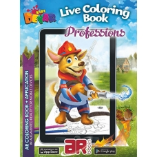 Professions. 3D Coloring Book